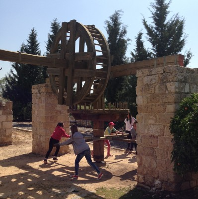 Field trip to ancient Israeli water well & aqueduct