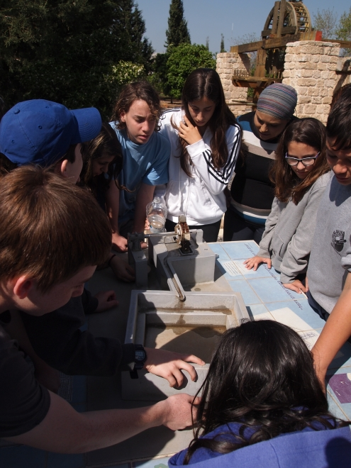 Learning activities at ancient water well & aqueduct field trip