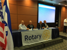 Rotary Water and Sanitation Symposium (Oct 15, 2015) at WATEC Conference in Tel Aviv, Israel. Presenters include key supporters and implementers of the Rotary Hands Across Waters program.